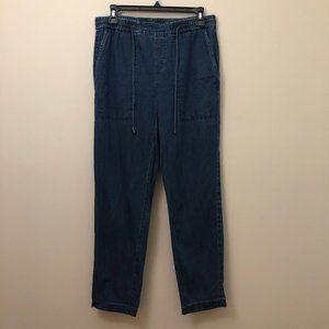 Eileen Fisher straight leg chambray pant XS.